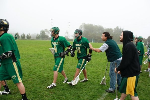 Luke Jensen (6) takes the field for Humboldt Lacrosse. Credit: Facebook